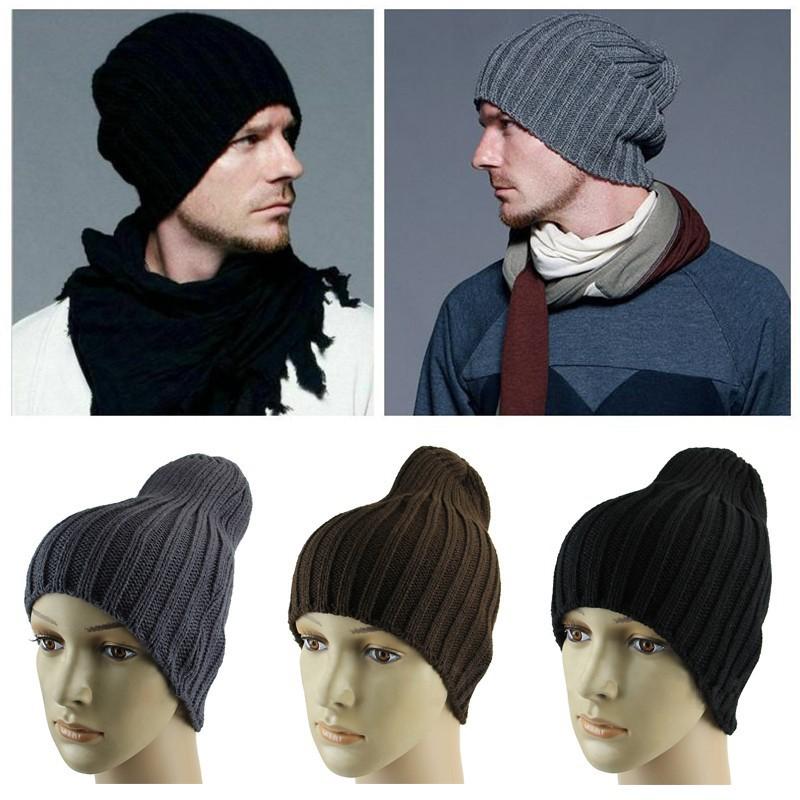 Unisex Men Hip Hop Warm Winter Wool Knitted Ski Beanie Skull Slouchy Cap Hat Hot