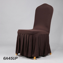 2016 Factory Christmas Spandex Ruffled Chair Cover Ruffled Elastic Dinner Seat Cover Dinner Hotel Chair Cloth(China (Mainland))