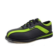 2015 New Arrival professional bowling shoes products special sports shoes green and black spell color fashion men shoes #B1319(China (Mainland))