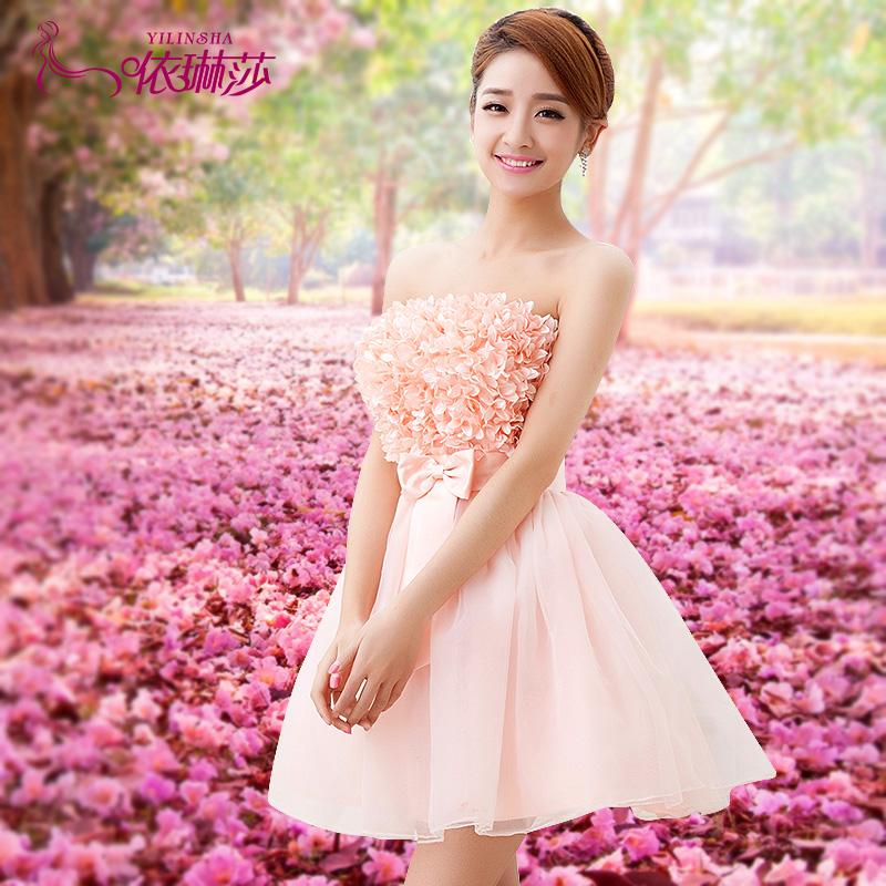 Короткие свадебные платья розового цвета