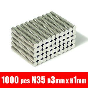 time- arrival permanent 1000pcs 3mm x 1mm disc rare earth neodymium strong fridge magnets n35 d3x1mm d3*1mm<br><br>Aliexpress
