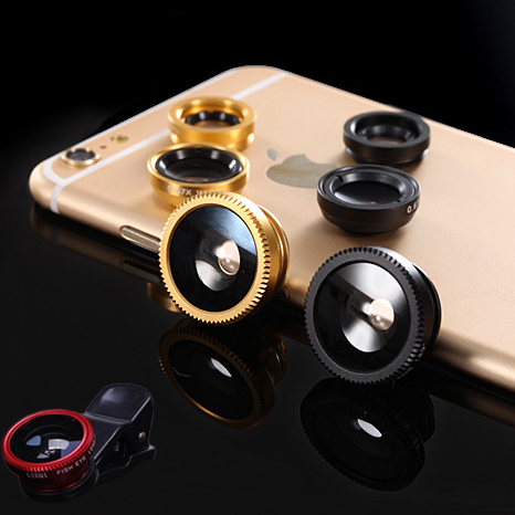 3 in 1 fish eye macro wide angle mobile phone lenses camera fit universal clip for iphone 5 6 for samsung galaxy s5 for lg sony