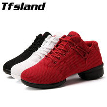Buy Tfsland New Women Soft Breathable Square Dance Shoes Girls Salsa Ballroom Jazz Dance Shoes Female Dancing Sneakers Gift for $19.71 in AliExpress store