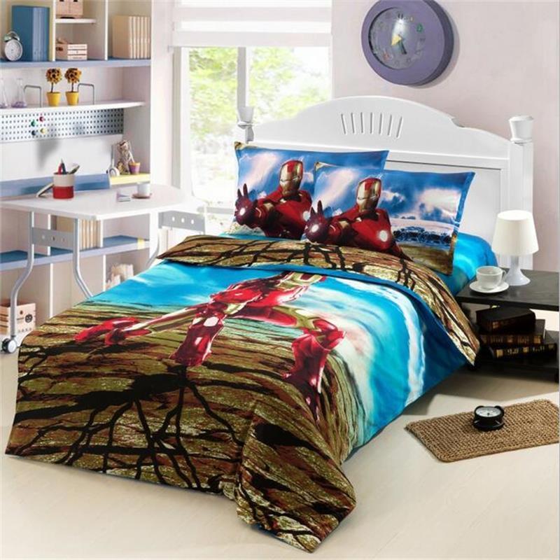 Achetez en gros enfants chambre ensemble en ligne des - Housse de couette iron man ...