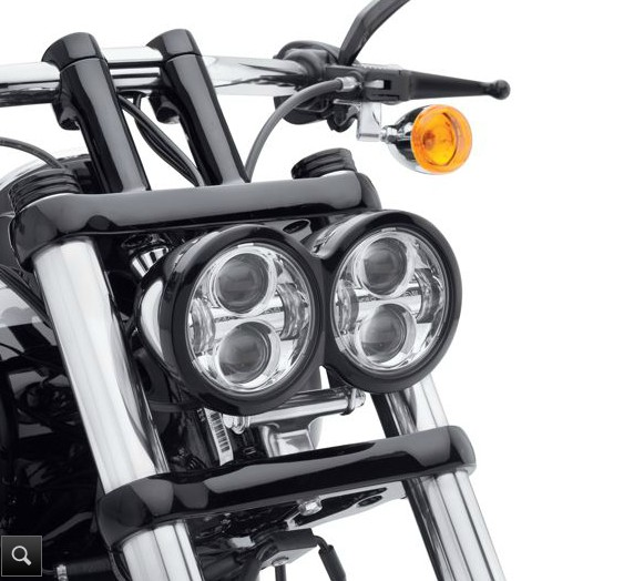 "Pair LED Headlight 80W 4.65"" Black For Harley Davidson Dyna Glide Fat Bob New"