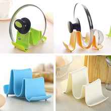 1PCS Wave Pot Pan Cover Stand Holder Racks Ladle Spoon Storage Rack Kitchen Ware Tool Free Shipping