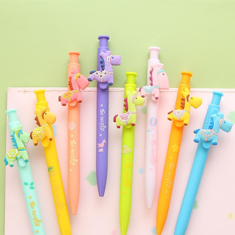 8 pcs/Lot Candy body gel pen Little horse cute pens Sweet zakka Canetas escolar papelaria office material school supplies 6544<br><br>Aliexpress