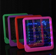 Free shipping LED message board /Led Writing Board/ led display fluorescence plate with a highlighter free to write(China (Mainland))