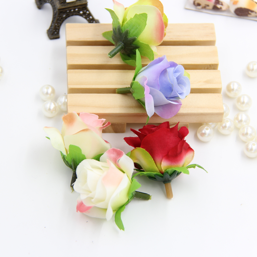 Wholesale homemade wedding decoration silk flower heads for Artificial flowers decoration images
