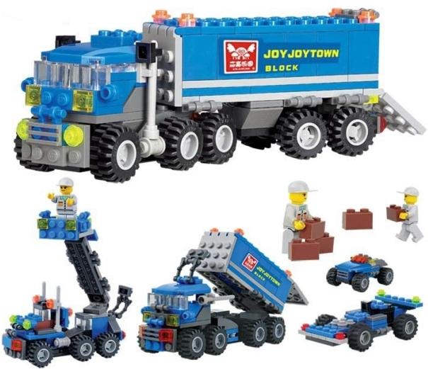New Original KAZI 6409 city Truck Model Building Blocks Sets 163pcs/lot Deformation Car Bricks Toys Compatible with Lego