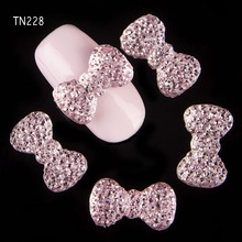 Blueness 10pcs/lot 3d nail art charms jewelry adhesive rhinestones decoration for manicure design Acrylic Bow Nails Arts TN228(China (Mainland))