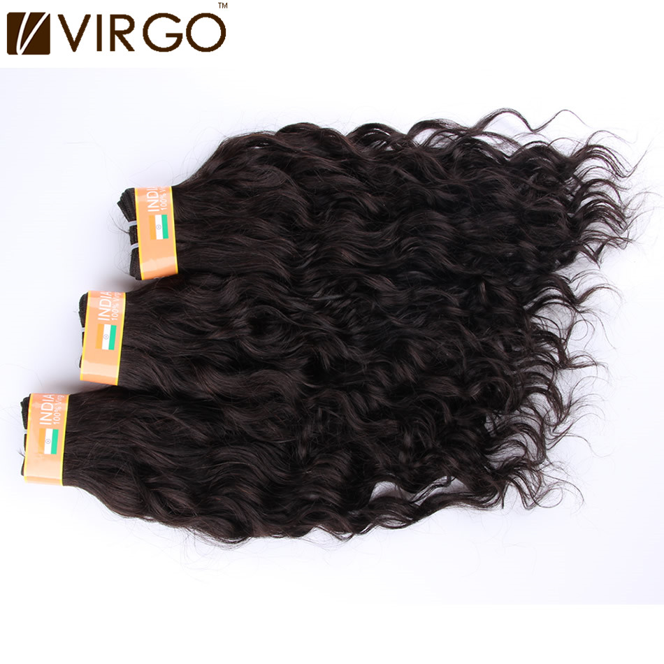 3 Bundles Indian Virgin Hair Weaves Water Wave/Italian Body Texture 1B Color can be dyed Wet and Wavy Remy Hair Extensions(China (Mainland))