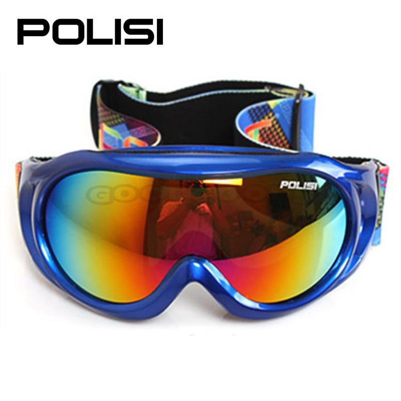 hot sale POLISI P809-MU Children Snow snowboard goggle Anti-Fog Double Lens Kids Snowmobile Sled Winter Skate Glasses Eyewear(China (Mainland))