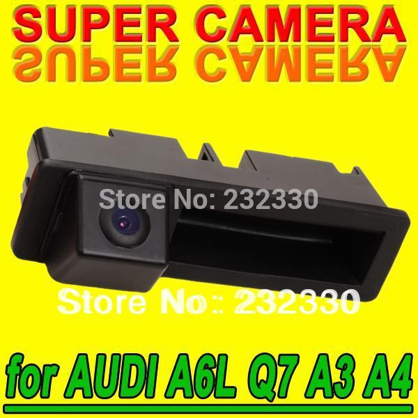 For Sony CCD Audi A4 A3 Q7 A6L Car Back Up Parking Rear View Reverse Camera Trunk handle Sensor Security System Kit for GPS(China (Mainland))