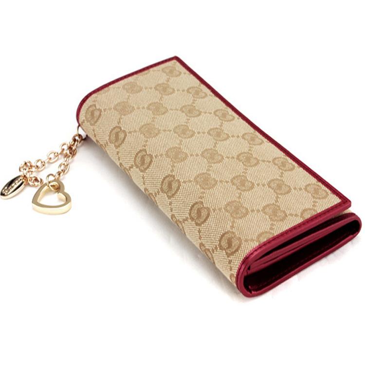 2014 Heart Pendant women's long design wallet Fashion Sweet Women wallet G184(China (Mainland))