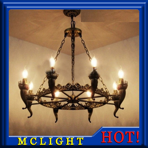 Antique Iron Chandelier Lights Bronze Antique Light for Living Room Dining Room Chandelier Bronze(China (Mainland))