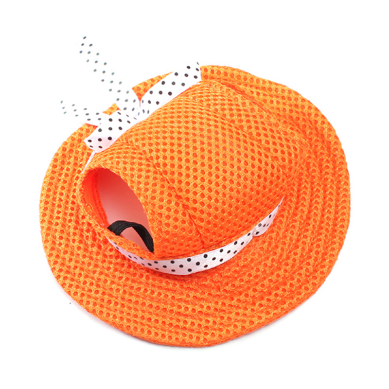 Hot 1pcs 6 Colors Pet Dog Hat Pet Dog Mesh Porous Sun Cap Hat with Ear Holes for Small Dogs Size S M(China (Mainland))
