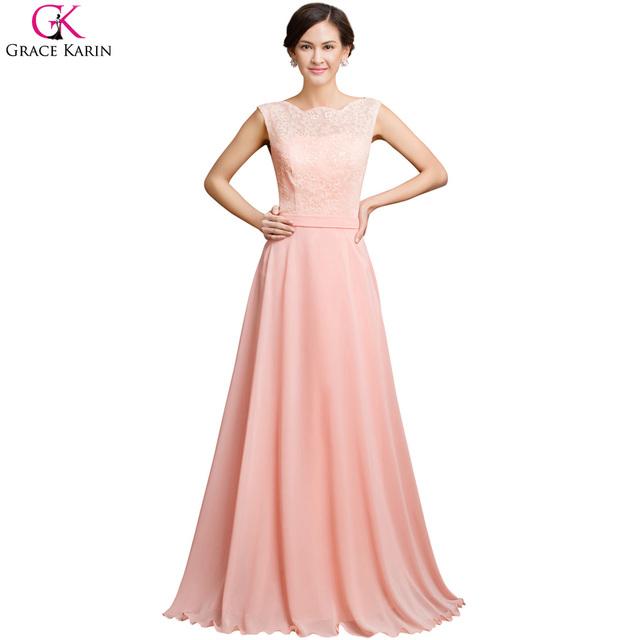 Халат де вечер длинное вечернее платье 2016 грейс карин розовый спинки рукавов ужин ...