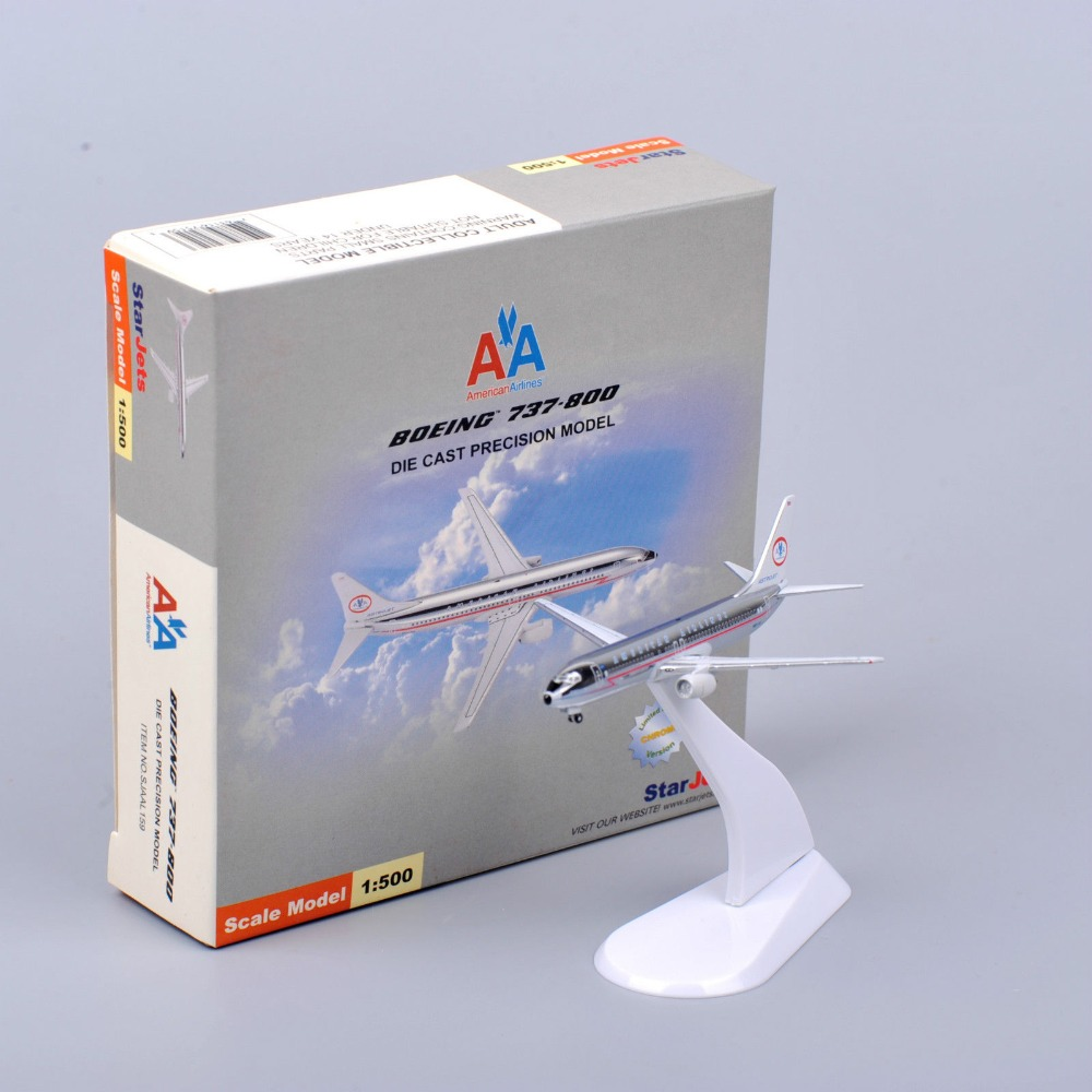 Star Jets Model Airplane 1:500 Scale American airline Boeing 737 Airliner Diecast Aircraft Model Kids Toys Brinquedos(China (Mainland))