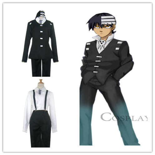 soul eater kid cosplay costume full suit