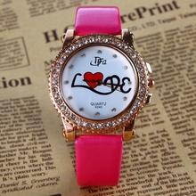 2015 nueva moda ginebra casual mujer relojes de vestir para mujer reloj de cuarzo de oro regalo de la muchacha del relogio feminino