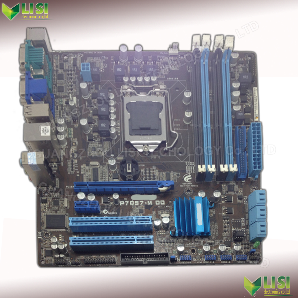 Free Shipping 90% new for ASUS P7Q57-M DO Q57 Desktop motherboard Socket LGA 1156 DDR3 16G for i5 i7 CPU on sale<br><br>Aliexpress