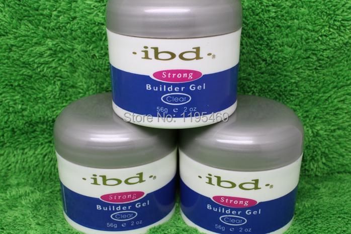 Wholesale high quality 10pcs Clear(Transparent) IBD Strong Builder UV Gel 2oz / 56g for nail saloon false tips polish(China (Mainland))