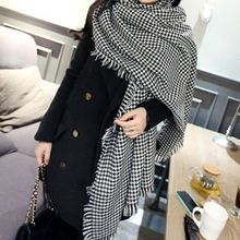 2014 over size women's winter scarf high quality Pashmina women trend Infinity novelty designer Houndstooth Pattern(China (Mainland))