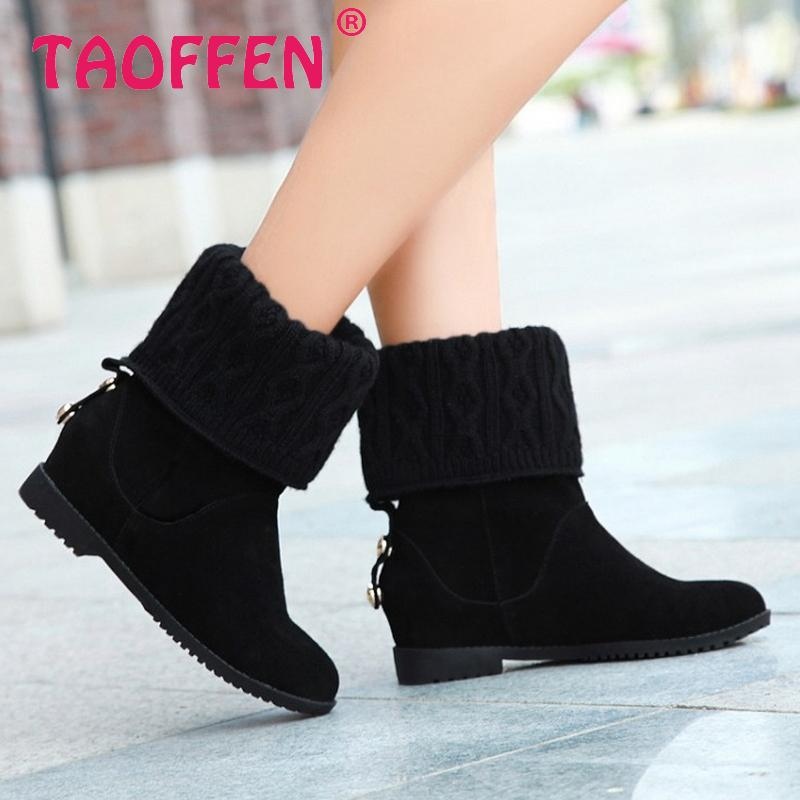 women real natrual genuine leather flat ankle boots half short botas winter boot snow warm footwear shoes R7665 size 34-39<br><br>Aliexpress
