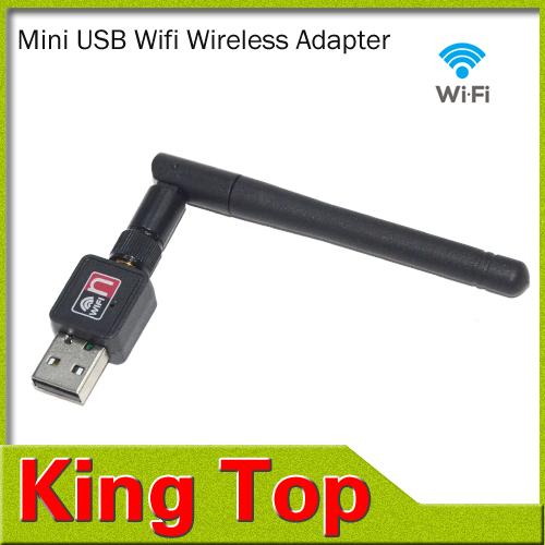 1PCS Mini 150M USB WiFi Wireless Network Networking Card LAN Adapter with Antenna Computer Accessories Wifi Adapter(China (Mainland))