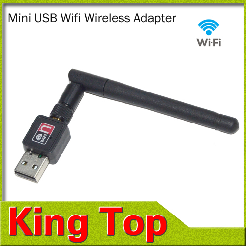 1PCS Mini 150M USB WiFi Wireless Network Networking Card LAN Adapter with Antenna Computer Accessories Wifi Adapter(China (Mainland))