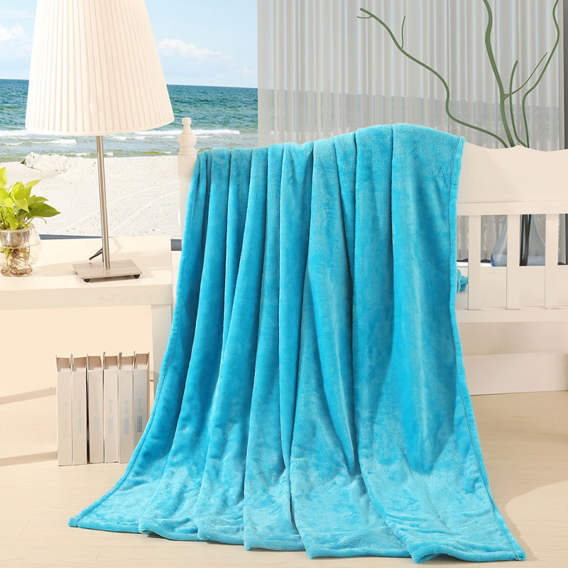 Hot! 180 * 200 digital classic coffee brand super soft coral fleece blanket / France Lay carpet 18 color(China (Mainland))