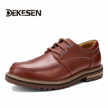 High Quality Men Business Shoes Big Sizes Genuine Leather Oxford Zapatos Mujer Men Office Shoes(China (Mainland))