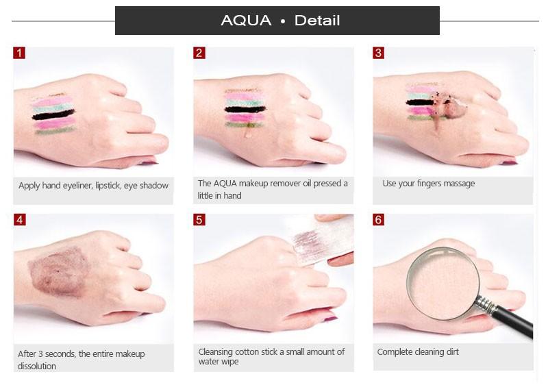 Для снятия глубоко очищающее масло очищение лица удаления масла для глаз и губ уход за кожей лица нежной нулевой стимуляции