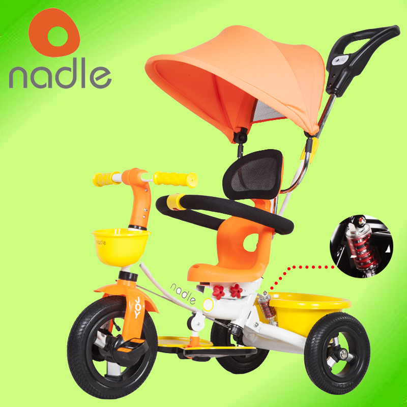 Nadle natto child tricycle bike child stroller bicycle suspension belt of baby stroller(China (Mainland))