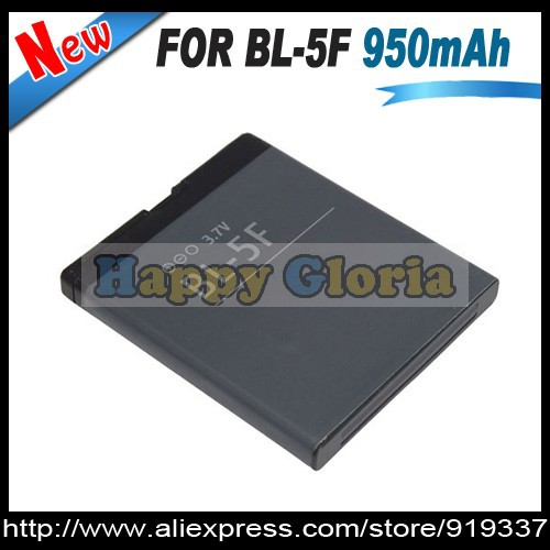 100pcs/lot BL-5F BL5F Battery For Nokia 6290 E65 N93i 6210 N96 6210S 6710N N95 Bateria Batterie DHL/Fedex Free Shipping(China (Mainland))