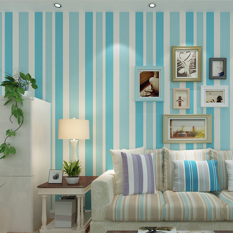 achetez en gros vert papier peint rayures en ligne des grossistes vert papier peint. Black Bedroom Furniture Sets. Home Design Ideas