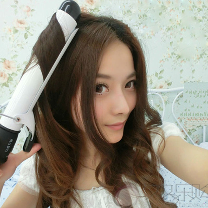 Professional Curling Iron Wand LCD Display font b Hair b font Curler Rollers Electric irons rulos