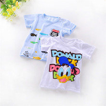 Free shipping New Lovely printting Baby Kids Boys girl Cartoon Tops T-shirts summer children's clothing Age 0-2Y(China (Mainland))