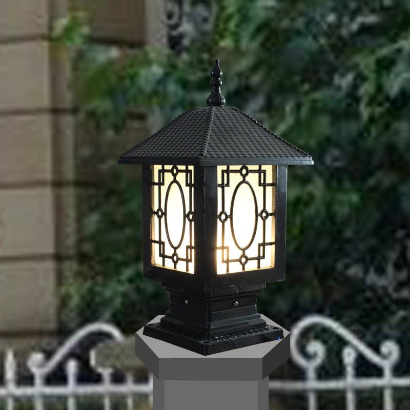 Column Head Lamp Post Caplights Lamp Post Outdoor Garden Lamp Fashion Lamp Po