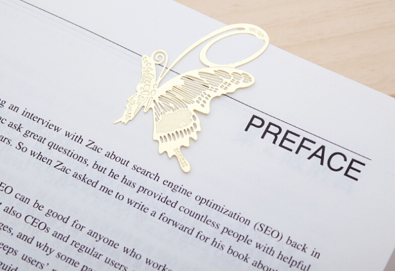 Buy a gift for your Friend, brass Butterfly Bookmark Gift(China (Mainland))