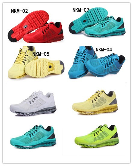 2013 max KPU shoes Hot sale men running shoes sport shoes bright color breathable,massage,of great quality,shoes size US 7-13(China (Mainland))