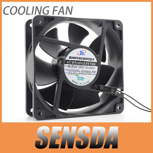 Free Shipping AC 110V 220V cooling fans 12cm 12038 1238 120mm 8W Energy saving plastic frame server inverter cooling fans