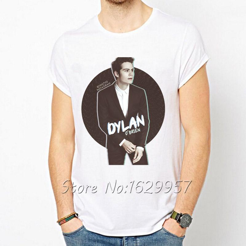 Hot Sale dylan o'brien T-shirt For Men Brand Original T shirt Fashion Men's Clothing Top Tees Tshirt Creative Design(China (Mainland))