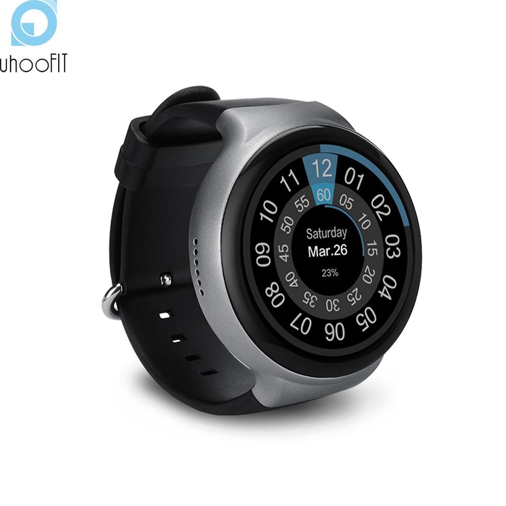 Uhoofit I4 smart watch android ios MTK 6580 quad-core 1.3GHz phone support WIFI heart rate Pedometer Google map GPS Clock T30