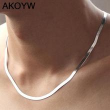 Buy high silver plated necklace Men Ms Short paragraph clavicle Blade chain fashion Nightclubs accessories Flat chain 45CM for $1.31 in AliExpress store