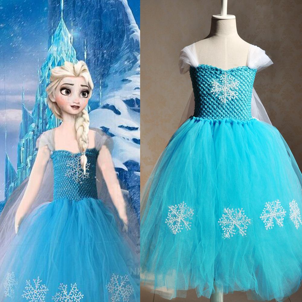 Queen Elsa Princess Dress