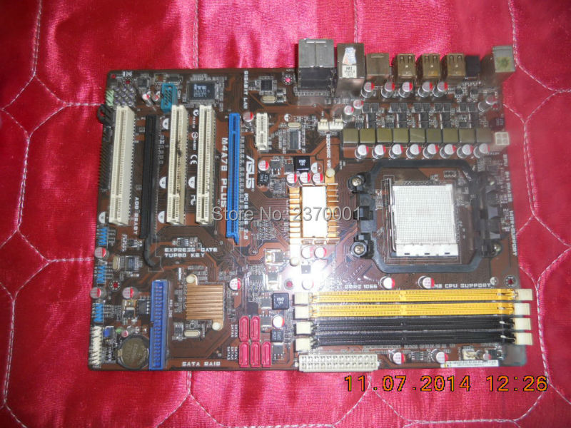 Free shipping for ausu M4A78 PLUS desktop Motherboard Socket AM3/AM2+/AM2 DDR2 770 100% well tested working(China (Mainland))
