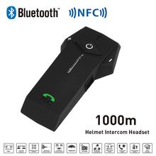 New 1000M BT NFC FM Radio Function Motorcycle Helmet Bluetooth Intercom Headset Interphone Headphone For Phone/GPS/MP3