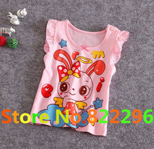 New 2015 0-2t Baby Girls T-shirt  Short Sleeve t shirt baby Girl Cartoon Tees Baby T shirt  Cotton blouse